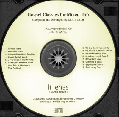 Gospel Classics For Mixed Trio, S/C Acc. CD  -     By: Mosie Lister