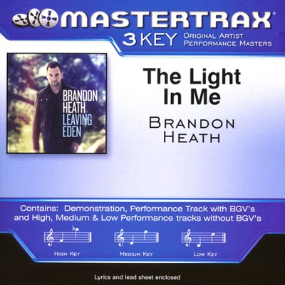 The Light In Me, Acc CD   -     By: Brandon Heath