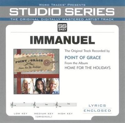 Immanuel - Medium Key Performance Track w/o Background Vocals  [Music Download] -     By: Point of Grace
