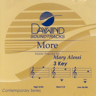More, Accompaniment CD   -     By: Mary Alessi
