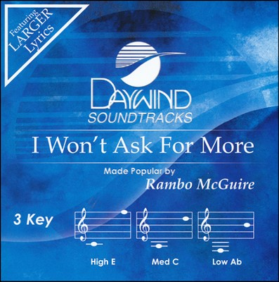 I Won't Ask for More Acc, CD  -     By: Rambo McGuire