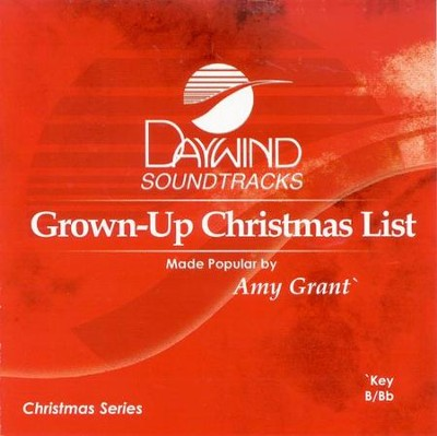 Grown-Up Christmas List, Accompaniment CD   -     By: Amy Grant