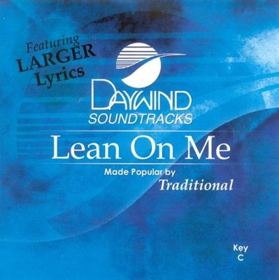 Lean On Me, Accompaniment CD   -