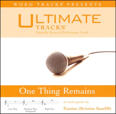 One Thing Remains (Low Key Performance Track With Background Vocals)  [Music Download] -