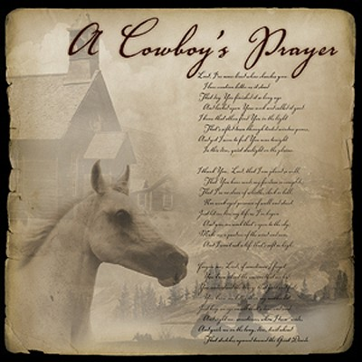 A Cowboy's Prayer   -     By: Jim Hendricks