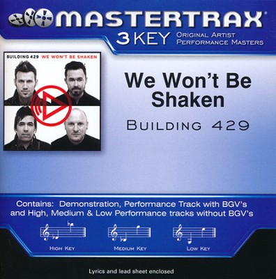 We Won't Be Shaken Acc, CD  -     By: Building 429