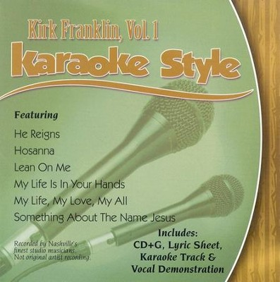 Kirk Franklin, Volume 1, Karaoke CD   -