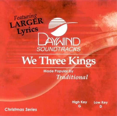 We Three Kings, Accompaniment CD   -