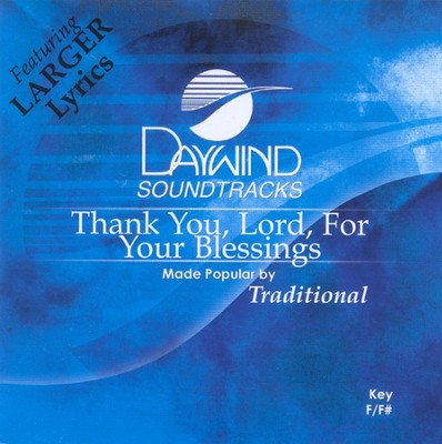 Thank You Lord For Your Blessings, Accompaniment CD   -