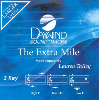 The Extra Mile, Accompaniment CD   -     By: Lauren Talley