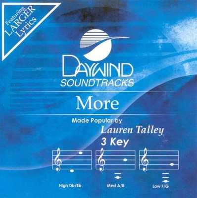 More, Accompaniment CD   -     By: Lauren Talley