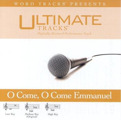 O Come, O Come Emmanuel - Low key performance track w/ background vocals  [Music Download] -