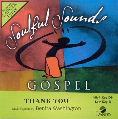 Thank You, Accompaniment CD   -     By: Benita Washinton