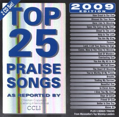 Top 25 Praise Songs: 2009 Edition CD   -