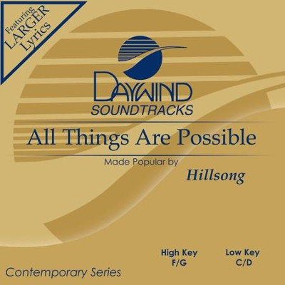 All Things Are Possible  [Music Download] -     By: Hillsong