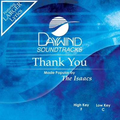 Thank You  [Music Download] -     By: The Isaacs