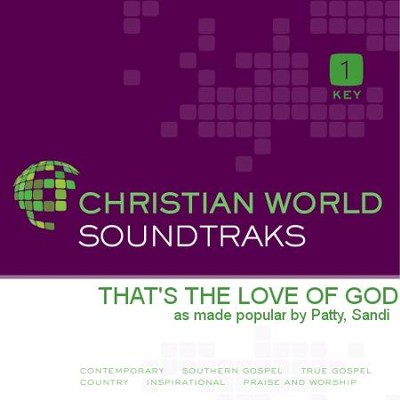 That's the Love of God   [Music Download] -     By: Sandi Patty