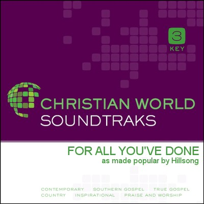 For All You've Done   [Music Download] -     By: Hillsong
