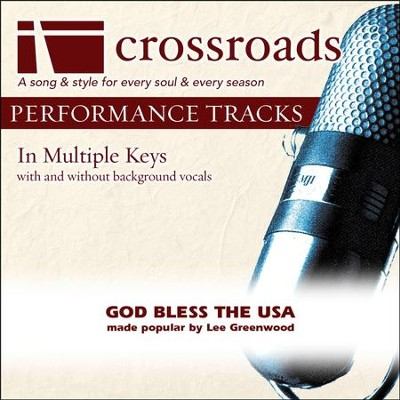 God Bless The USA (Made Popular By Lee Greenwood) (Performance Track)  [Music Download] -