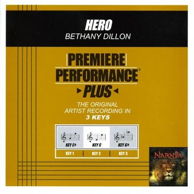 Hero (Key-C-Premiere Performance Plus w/o Background Vocals)  [Music Download] -     By: Bethany Dillon