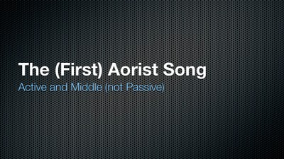 Singing Grammarian Video #10: Aorist Active and Middle Song  [Video Download] -     By: H. Daniel Zacharias