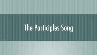 Singing Grammarian Video #17: Participles Song  [Video Download] -     By: H. Daniel Zacharias