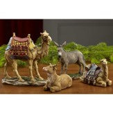 Real Life Nativity 7 Size Set, Animals 4 Pieces