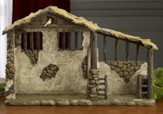 Real Life Nativity, Lighted Stable for 10.25 Set