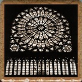 Notre Dame Stained Glass Window Trivet