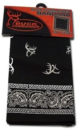 Buck Commander Bandanna, black, Buck Commander Series