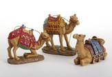 Set of Three Camels, Real Life Nativity Ornament Collection