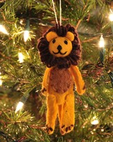 Felt Ornament Finger Puppet, Lion, Fair Trade Product