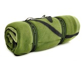 Duck Commander Fleece Blanket, Green and Black