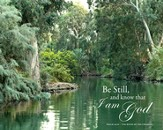 Be Still and Know That I am God Psalm 46:10, Canvas Wall Art