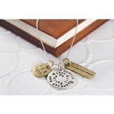 Goodness and Mercy Surely Will Follow Me Inspirational 3 Tag Necklace