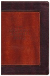 NIV Maxwell Leadership Bible, Leathersoft Rich Auburn & Dark Roast - Imperfectly Imprinted Bibles