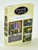 Blossoms of Joy Birthday Cards, Box of 12