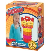 Hot Color Building Blocks, 200 Pieces
