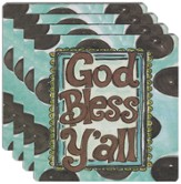 God Bless Y'All Coasters, Set of 4