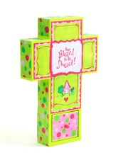 Canvas Wall Cross, Blessed, Small