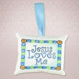 Jesus Loves Me Pillow Music Box, Blue