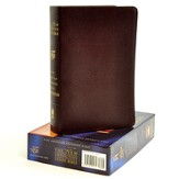 NAS New Inductive Study Bible, Bonded leather, Burgundy,  Thumb-Indexed