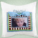 Child of God, Photo Pillow, Blue