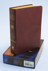NAS New Inductive Study Bible, Genuine leather, Burgundy,  Thumb-Indexed