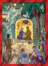 Peaceful Nativity Boxed Christmas Cards w/Greeting , 15 Cards