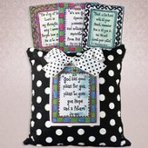 White Dotted Four Scriptures Pillow