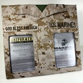 US Marine Double Frame with God Bless America Tape