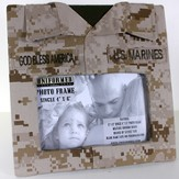 US Marine Single Frame with God Bless America