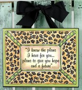 I Know the Plans Plaque, Leopard Print