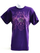 Rhinestone Butterfly shirt, Purple,  Large (42-44)